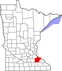 Map of Minnesota highlighting Goodhue County.svg