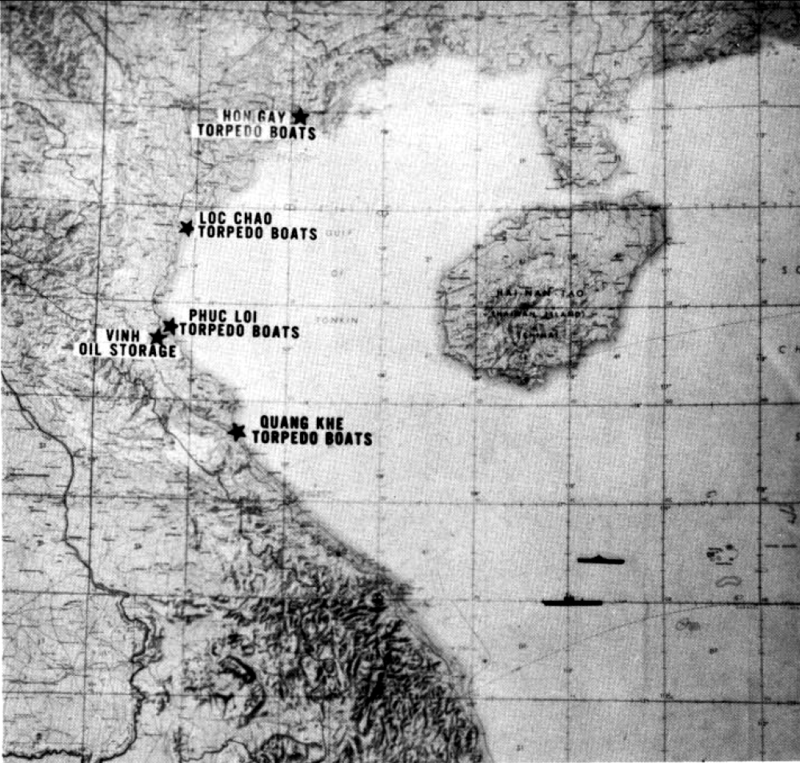 Map of Operation Pierce Arrow in Vietnam 1964.png