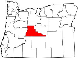 Map of Oregon highlighting Deschutes County.svg