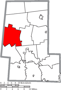 Location of Liberty Township in Union County
