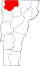Map of Vermont highlighting Franklin County.svg