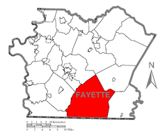 Map of Wharton Township, Fayette County, Pennsylvania Highlighted.png
