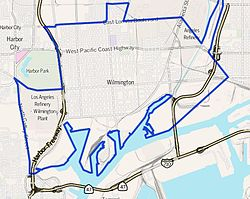Wilmington as outlined by the Los Angeles Times