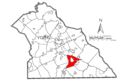 Map of York County, Pennsylvania Highlighting North Hopewell Township.PNG
