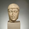 Marble head from a statue of Harmodios MET DP102375.jpg