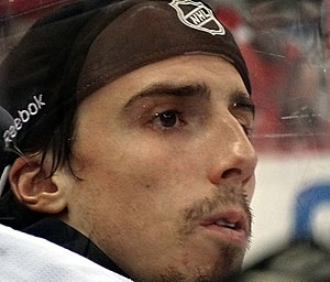 Marc-André Fleury - Fleury looks on during the 2013 playoffs.