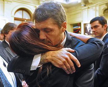 Marcelo Tinelli funeral Nestor Kirchner