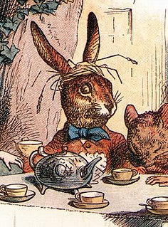 "March Hare fictional character from Carrolls Alices Adventures in Wonderland and Through the Looking-Glass (in the latter, under the name ""Haigha"", pronounced ""hare"")"