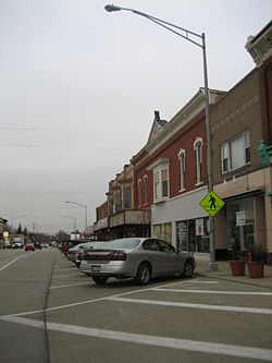 Buildings in downtown Marengo.