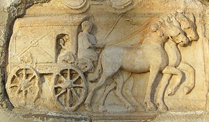 Roman commerce - Roman 4-wheeled wagon
