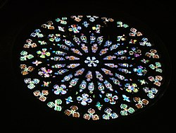 Rose-window of Santa Maria del Pì,Barcelona,ESP 2006