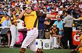 Mark Trumbo competes in semifinals of '16 T-Mobile -HRDerby. (27954730083).jpg