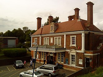 Market Harborough railway station - The Grade II listed station building from 1884 by John Livock
