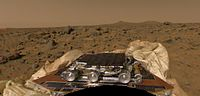 Mars Pathfinder rover after landing on Mars.jpg