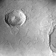 Mars rampart crater
