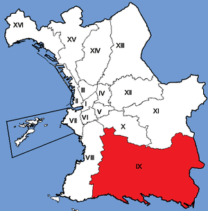 9th arrondissement of Marseille - Image: Marseille Arrondissements 09
