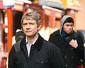 Martin Freeman filming Sherlock.jpg