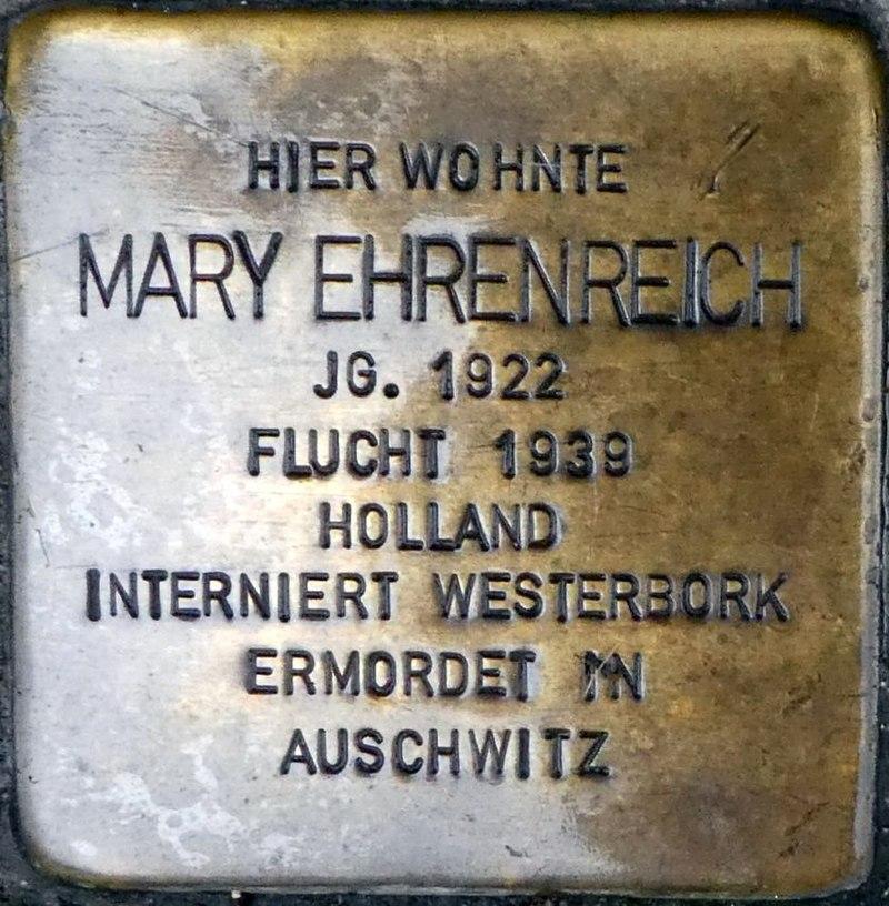 Mary Ehrenreich, Neugasse 3 (Wiesbaden).jpg