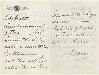Mayerling incident - Vetsera's letter of farewell to her mother