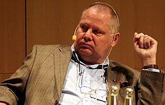 Mats Gellerfelt ved bogmessen i Göteborg 2008.