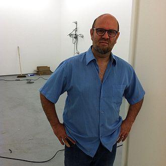 Matthew McCaslin - Matthew McCaslin installing an exhibition at New Art Projects, London, 2016