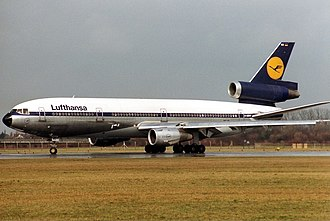 Munich-Riem Airport - Lufthansa McDonnell Douglas DC-10-30 in Riem 1989