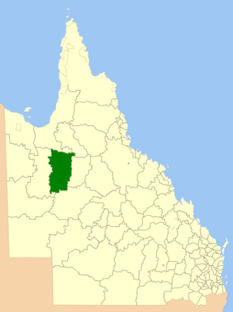 Shire of Mckinlay - Location within Queensland