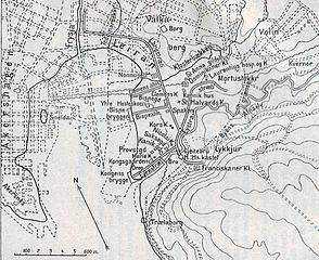 topografisk kart oslo Fil:Medieval Oslo map. – Wikipedia topografisk kart oslo