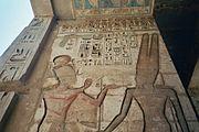 Medinet Habu temple relief of Ramesses III
