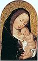 Meester van de Magdalenalegende - Maria met kind rustend op haar borst.jpg