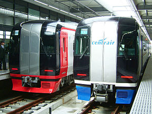 Meitetsu 2000 system and 2200 system trains