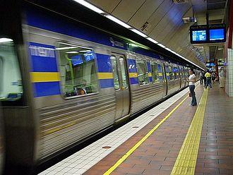 City Loop - Melbourne Central Station platform