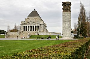 Mausoleum at Halicarnassus - The design of the Shrine of Remembrance in Melbourne was inspired by that of the Mausoleum.