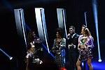 Melodifestivalen 2019, deltävling 1, Scandinavium, Göteborg, programledarna, 3.jpg