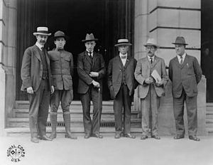 Charles Edward Russell - Charles Edward Russell with other members of the United States diplomatic mission sent to Russia in 1917 by President Woodrow Wilson.