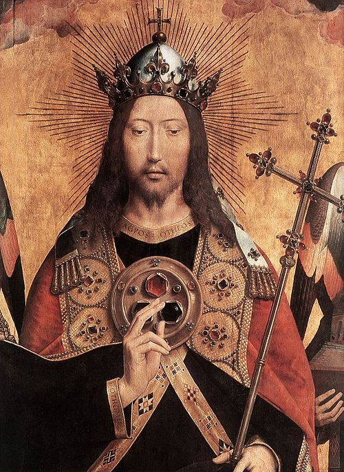 Memling Christ Surrounded by Musician Angels 02