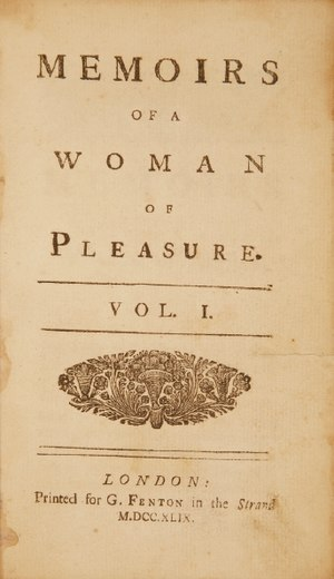 Fanny Hill - One of earliest editions, 1749 (MDCCXLIX)