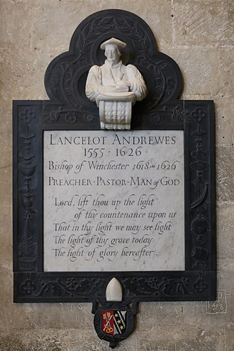 Lancelot Andrewes - Memorial in Winchester Cathedral