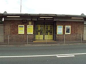 Meols railway station - Image: Meols railway station frontage