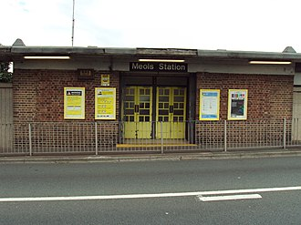 Meols railway station - Image: Meols railway station frontage