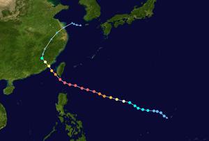 Typhoon Meranti - Image: Meranti 2016 track