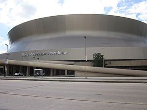 Der Mercedes-Benz Superdome in New Orleans