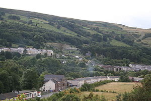 Merthyr Tydfil County Borough - View across Aberfan today