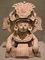 Messico, zapotechi, urna a forma di divinità seduta, 700 dc ca.jpg