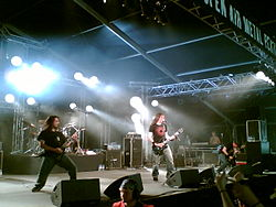 Metal band Gojira live at Tuska (Finland) 2006.jpg