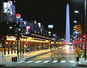 MetroBus y Obelisco