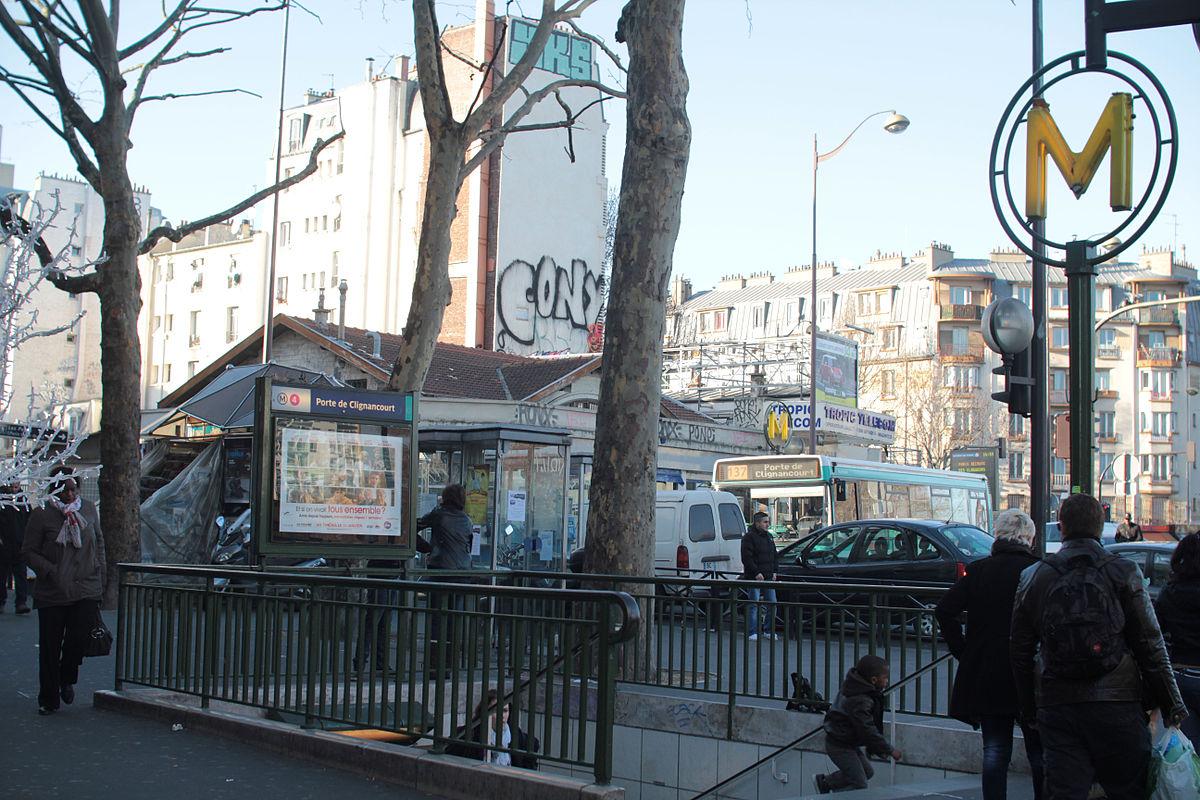 Porte de clignancourt m tro de paris wikip dia - 30 avenue de la porte de clignancourt ...