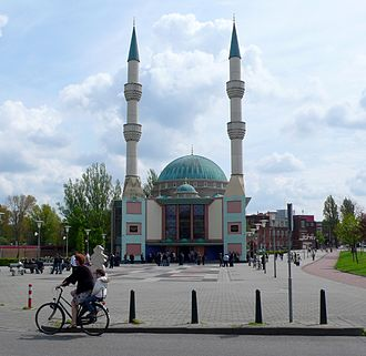 Islam in the Netherlands - Mevlana Mosque in Rotterdam.