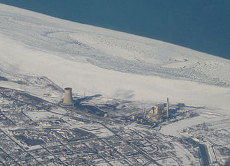 Michigan City Generating Station - Aerial photo of Michigan City Generating Station in January 2009