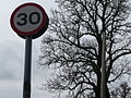 Mid Devon , 30mph Limit Speed Sign - geograph.org.uk - 1261301.jpg